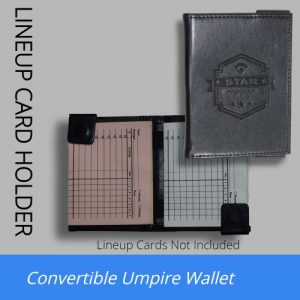 Premium Umpire Lineup Card Holder